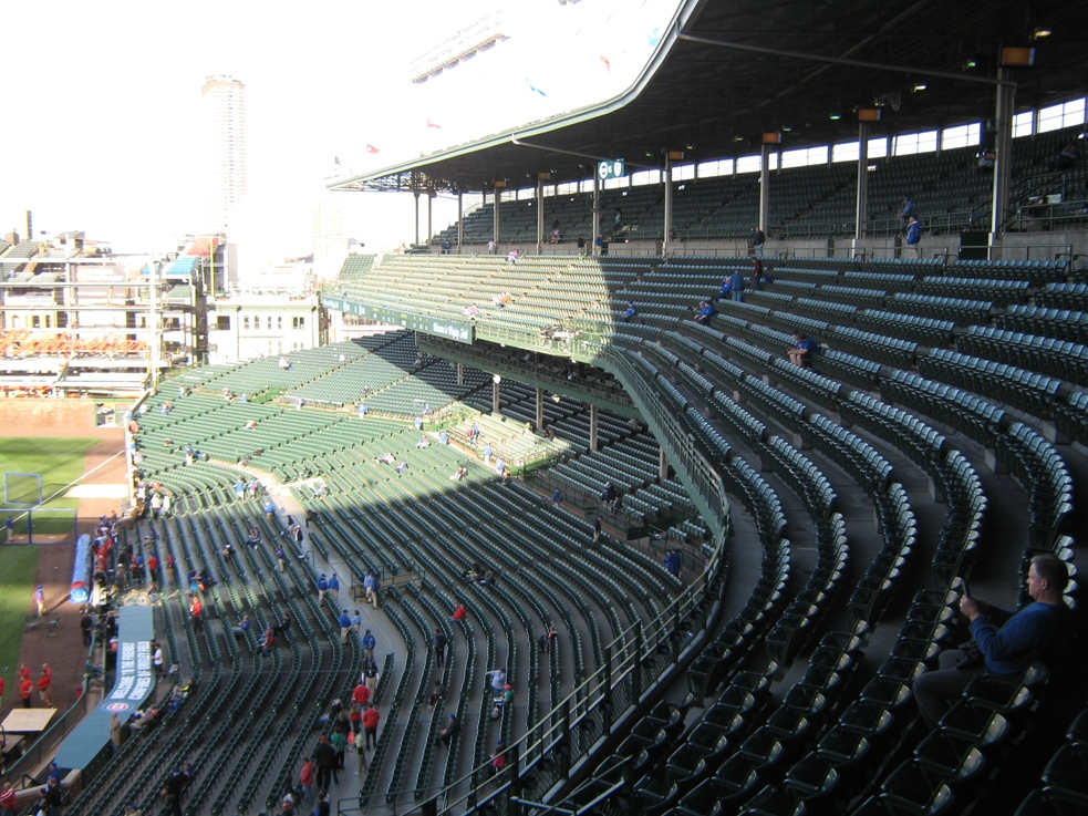 wrigley field seating upper