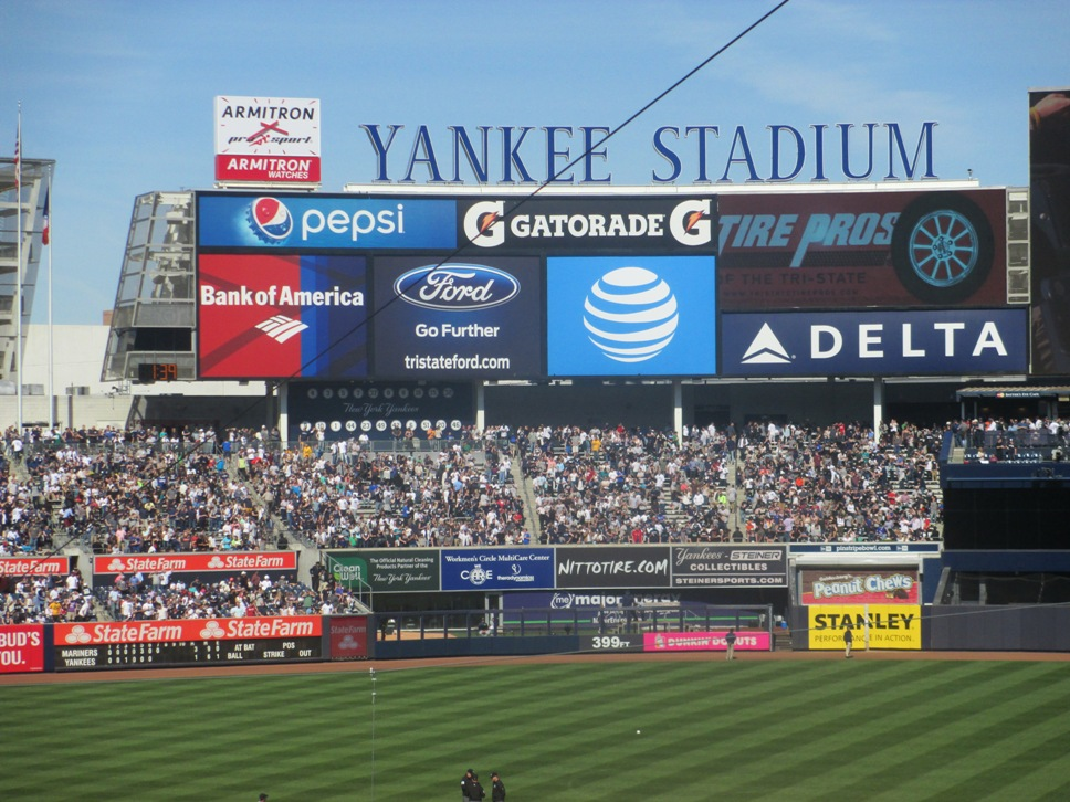 yankee stadkium seating bleachers