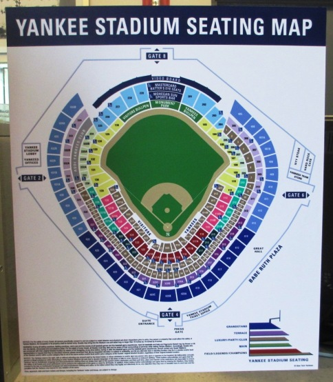 yankee stadium seating chart