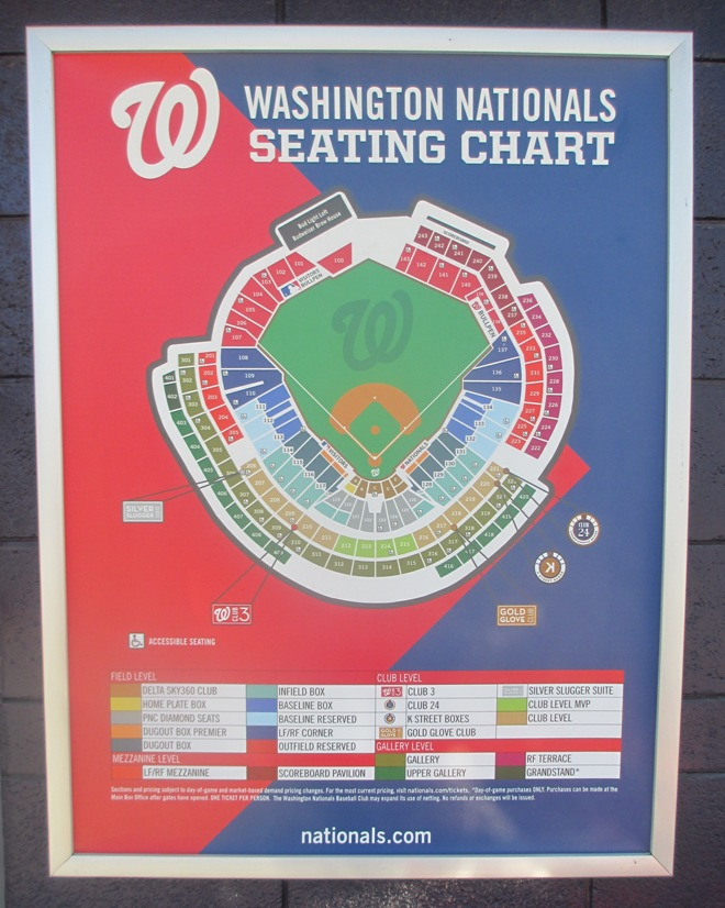 nationals park guide seating chart