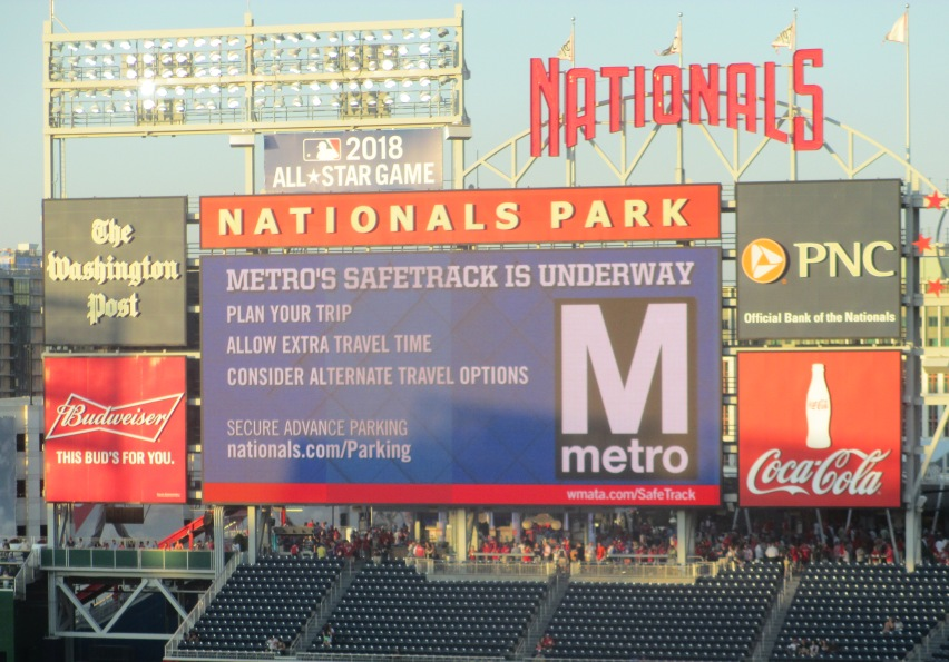 nationals park metro